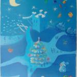 Sundbyberg Stad, vykort;  Vinter - vattentornet